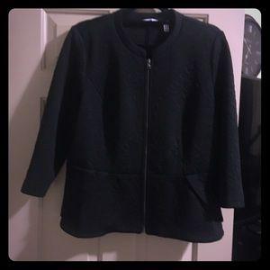 Textured peplum jacket